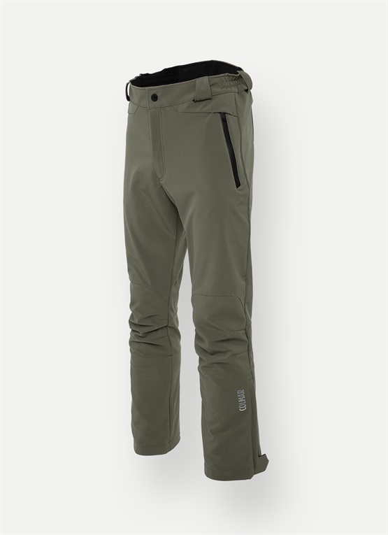 Softshell ski pants with gaiters
