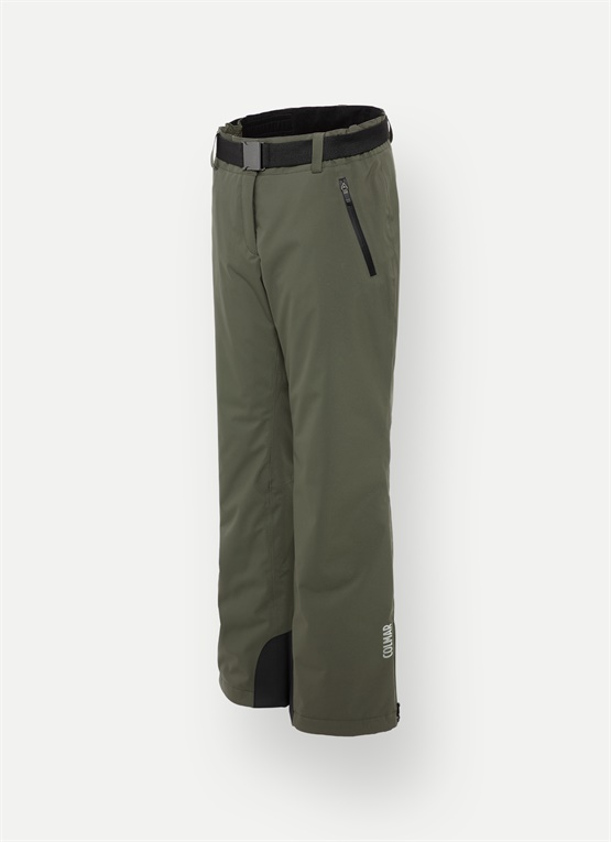 Ski pants with a belt