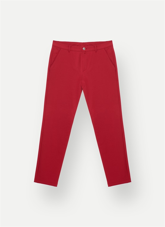 Pantaloni slim fit in lana Merino