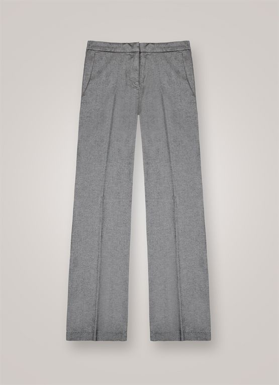 Oxford-effect palazzo trousers