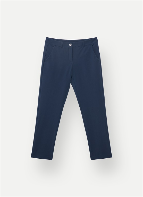 Merino wool slim-fit trousers