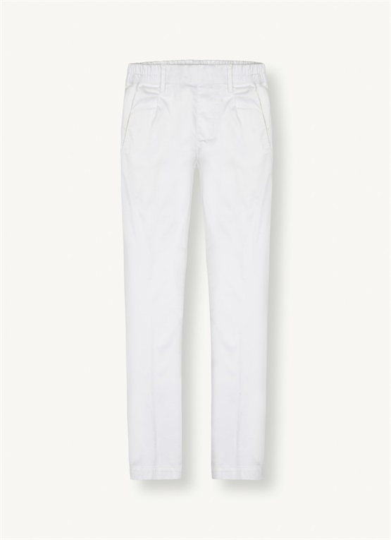 Satin-effect cigarette trousers