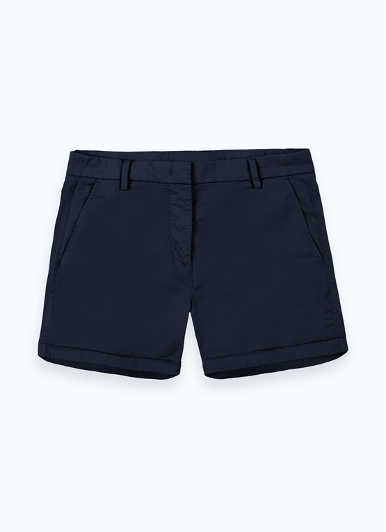 Sporty stretch cotton shorts
