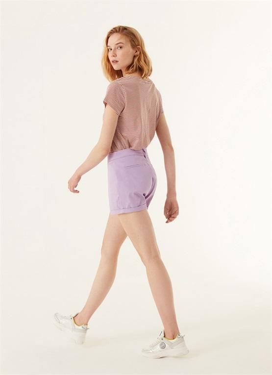 shorts effetto raso fondo risvoltato