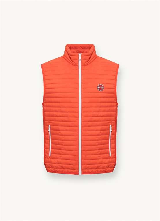 Gilet with softshell inserts