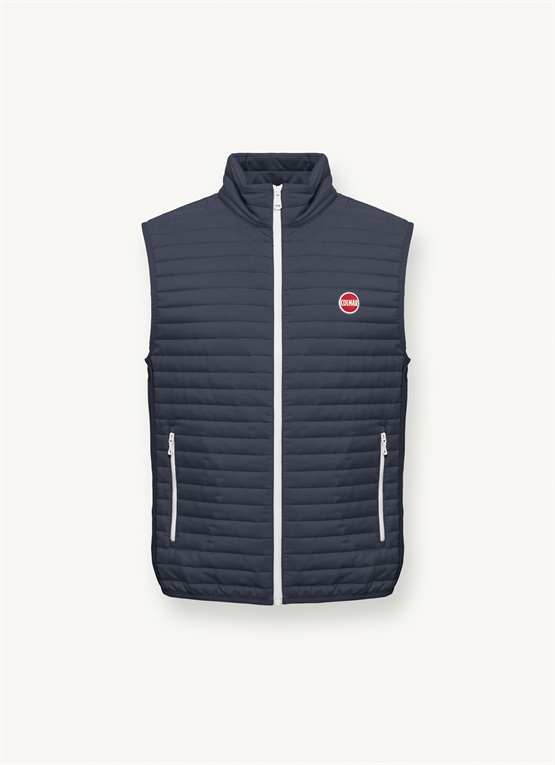 Gilet con inserti in softshell