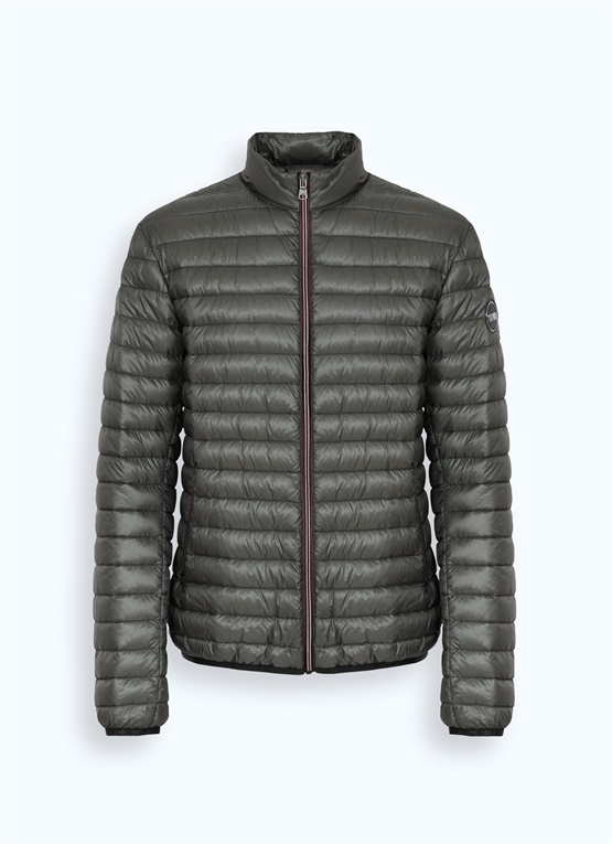 Super-glossy Research down jacket