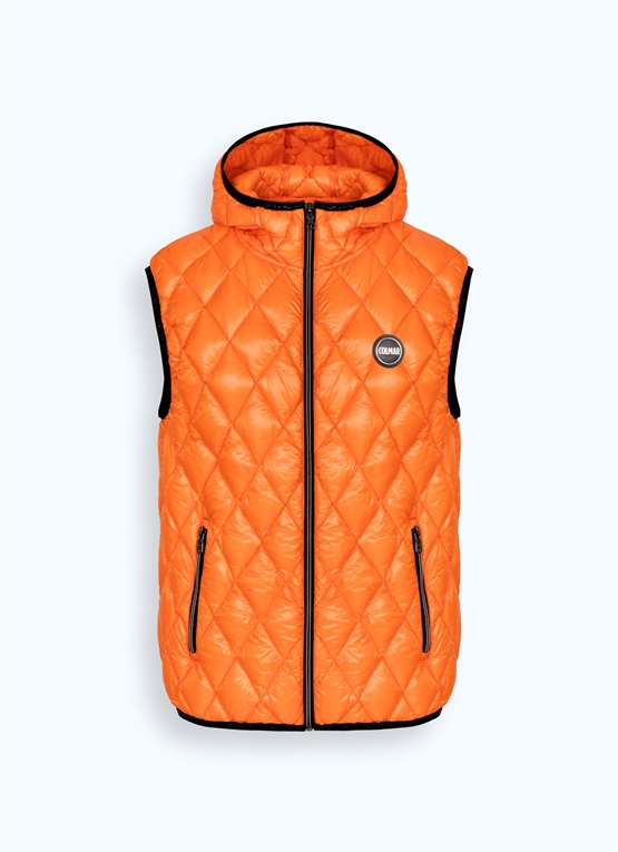 Diamond-quilted glossy Research vest