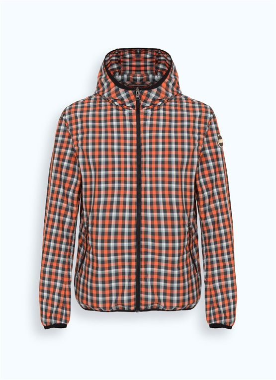 Madras jacket with hood