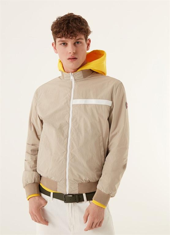 giacca leggera reversibile colmar giallo senape
