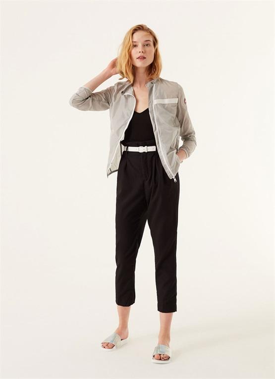 giacca asimmetrica in taffetà