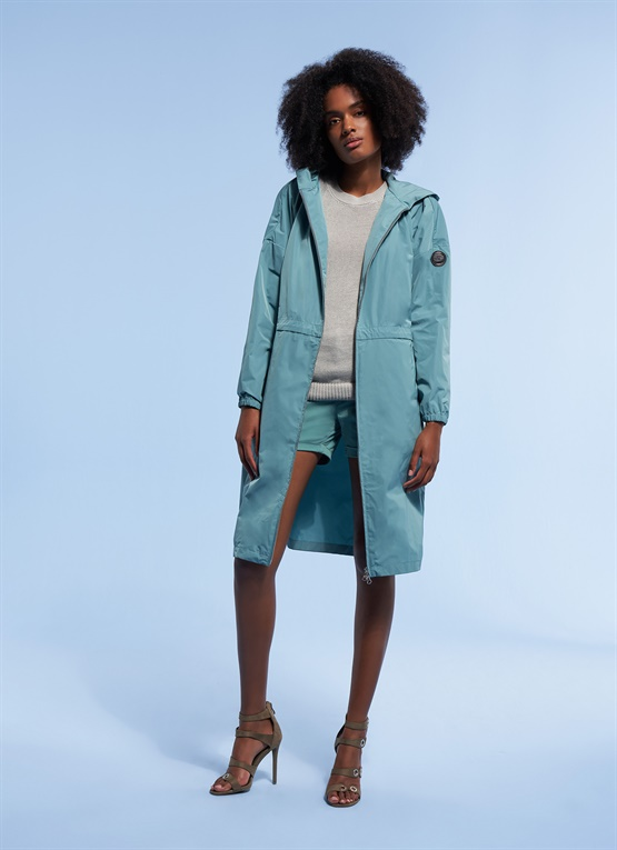 Research long jacket with pouch