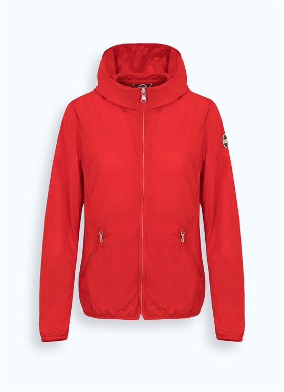 Packable jacket with hood