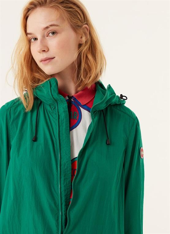 giacca lunga packable effetto stropicciato