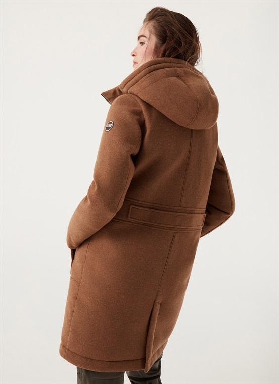 cappotto di panno imbottito donna