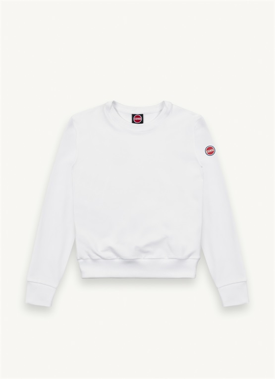 Sweat-shirt ras de cou en coton stretch