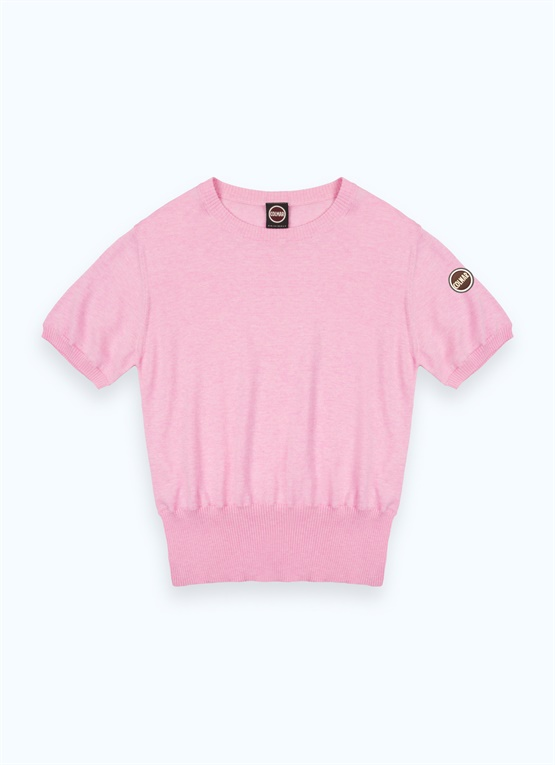 Cotton crop-top pullover