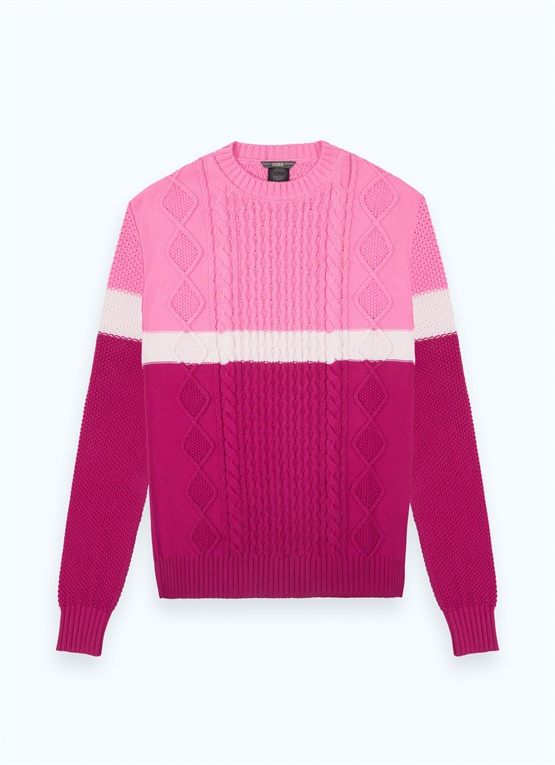 Long Research colour-block pullover
