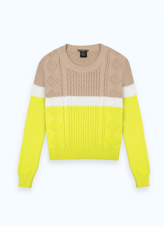 Research colour-block pullover