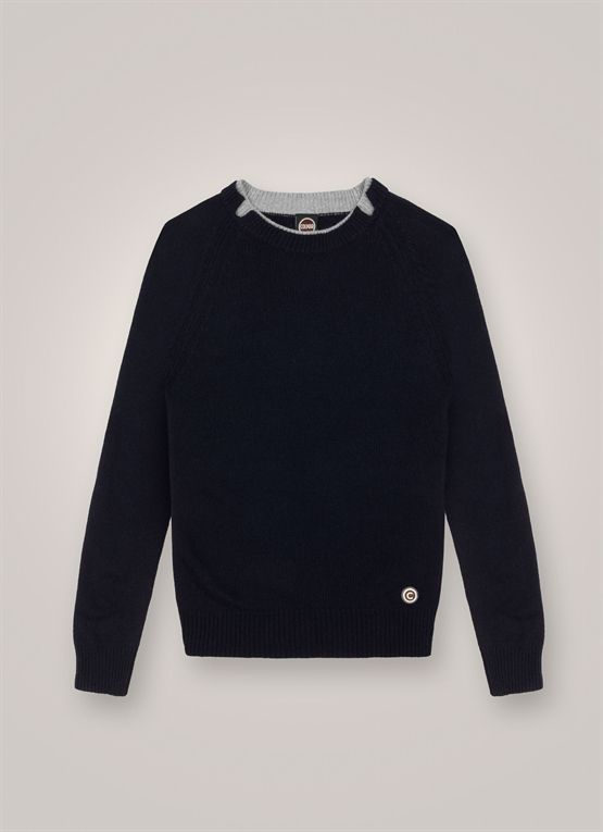 Round-neck, wool and cashmere pullover