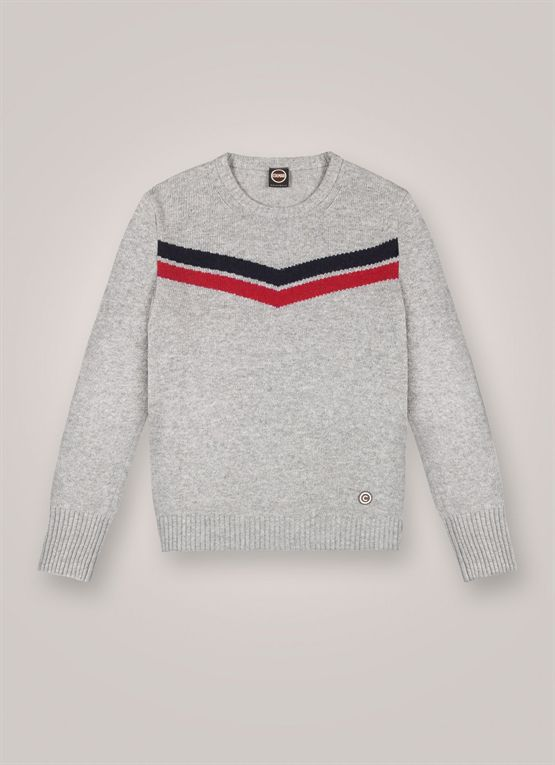 College-style wool and cashmere pullover