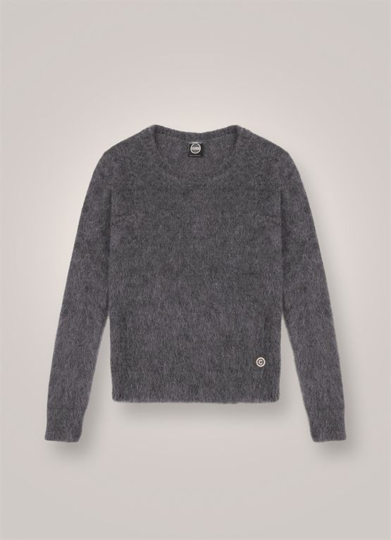 Soft mohair wool pullover