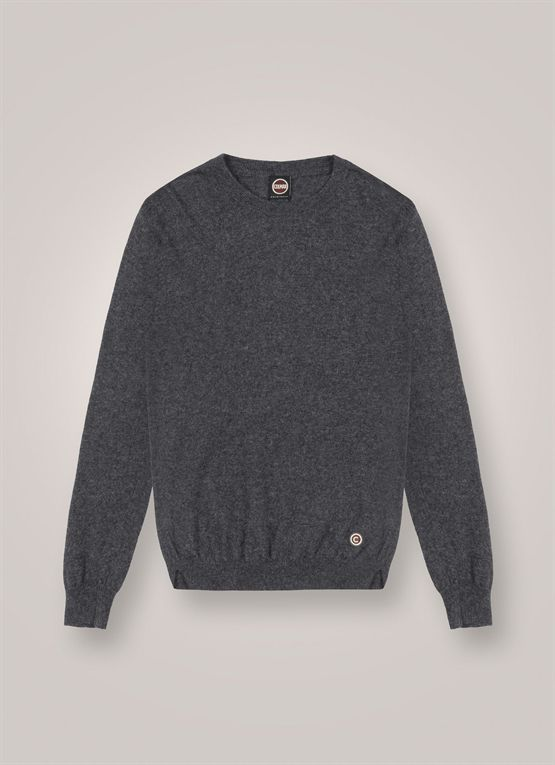 Round-neck, wool and alpaca pullover