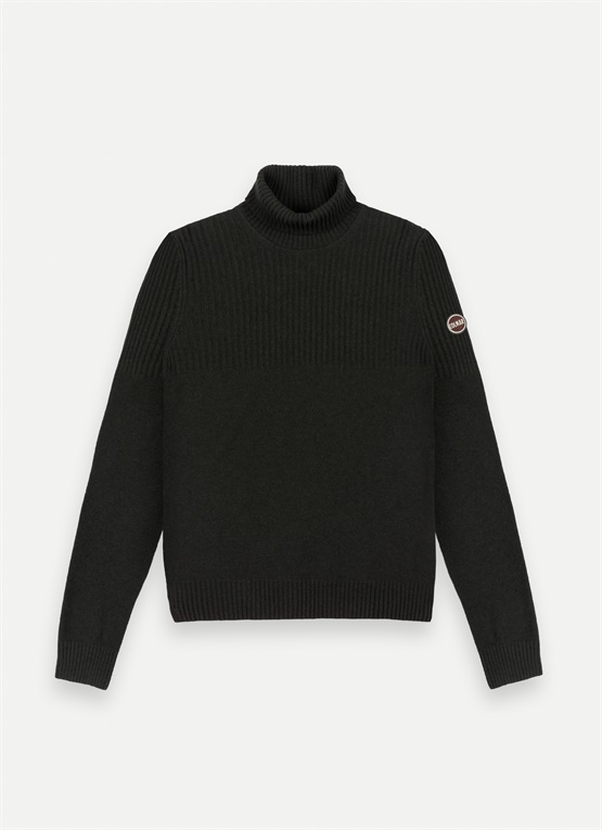 Wool polo-neck sweater