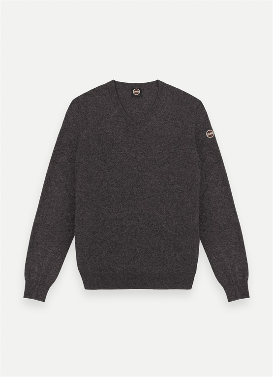 Wool and cashmere V-neck jumper