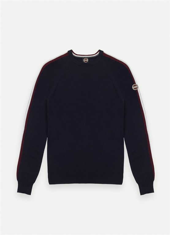 Three-tone wool and cashmere jumper