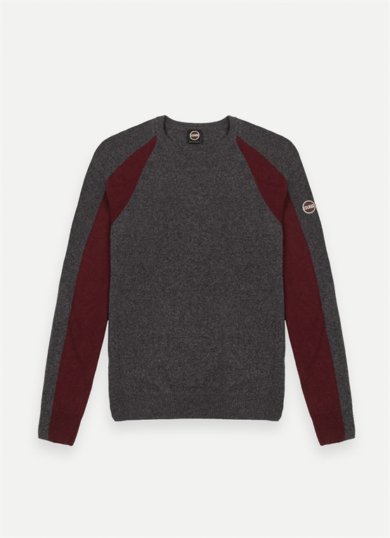 Two-tone wool and cashmere jumper