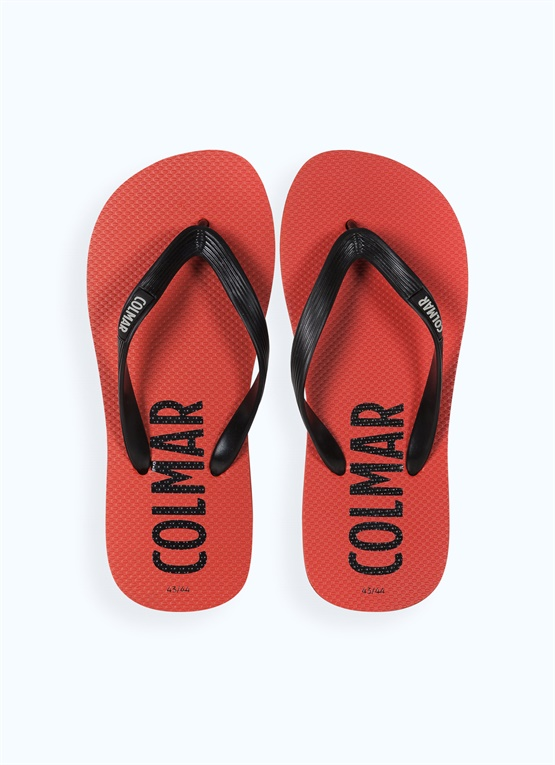 Unisex thong sandals with maxi-logo
