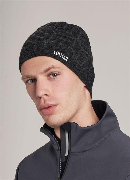 cappello con jacquard geometrico cappello con jacquard geometrico 83fc2e9d0043