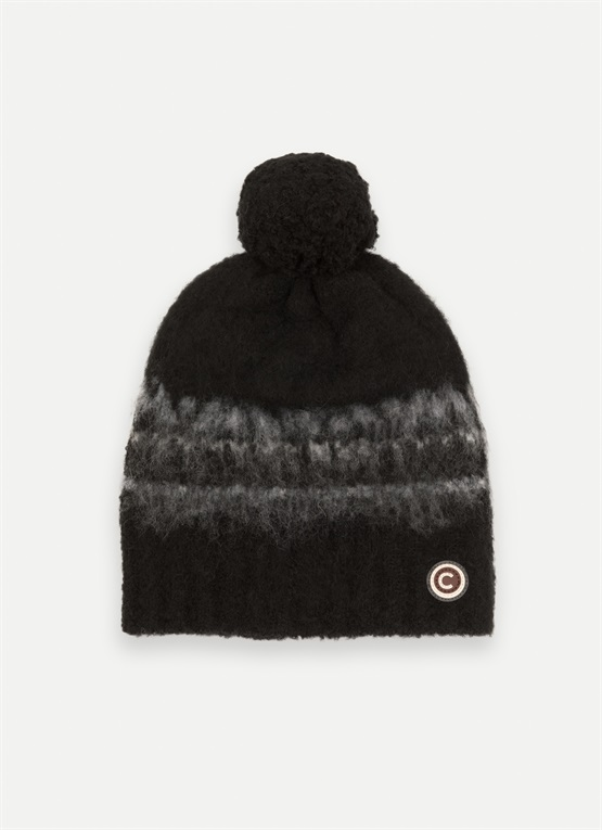 Wool hat with a pompom
