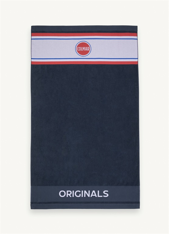 Terry cloth towel with logo