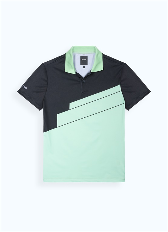 Polo colorblock con DNA
