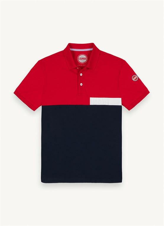Piqué polo shirt with transfer lettering