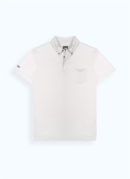 Button-down polo shirt with 37.5® technology