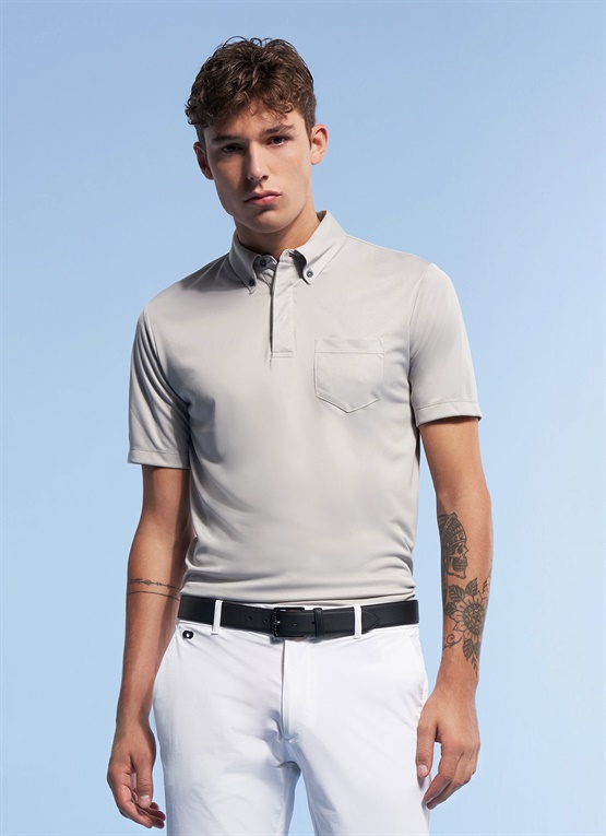 Polo button down con tecnologia 37.5®