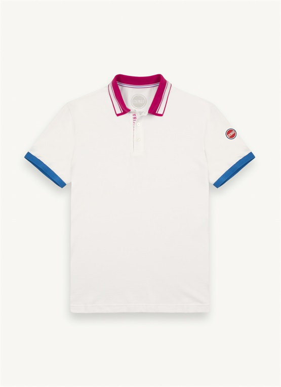 Polo shirt with branded placket