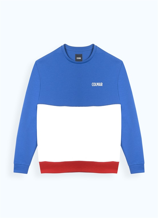 Cotton tri-colour sweatshirt