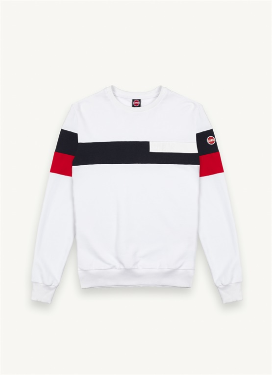 Colour-block sweatshirt with transfer print