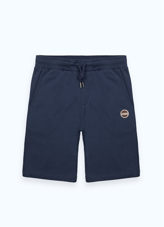 Fleece Bermuda shorts with small pocket