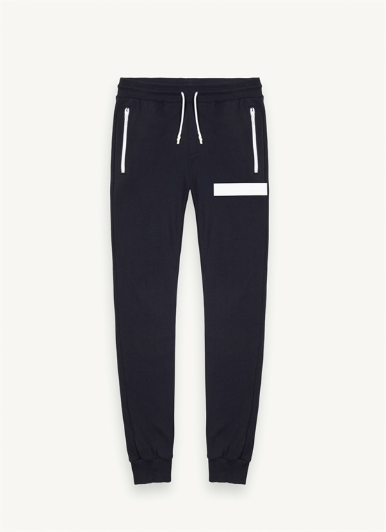 Fleece sweatpants with small pocket