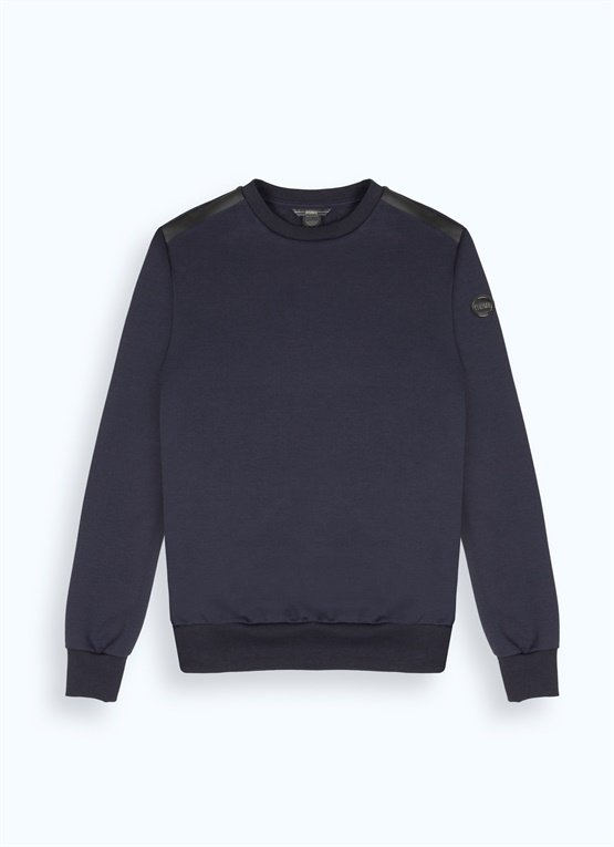 Research heat-sealed sweatshirt with crew neck