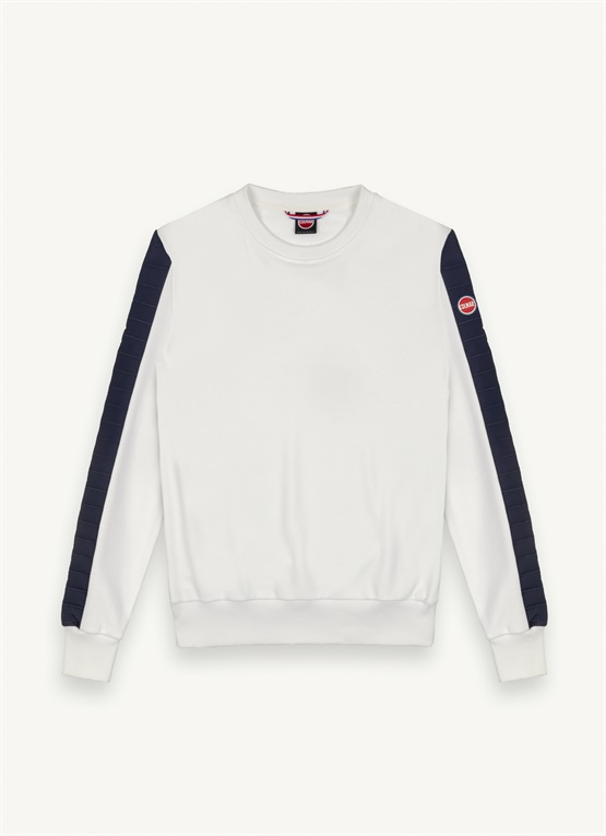 Sweatshirt with padded inserts