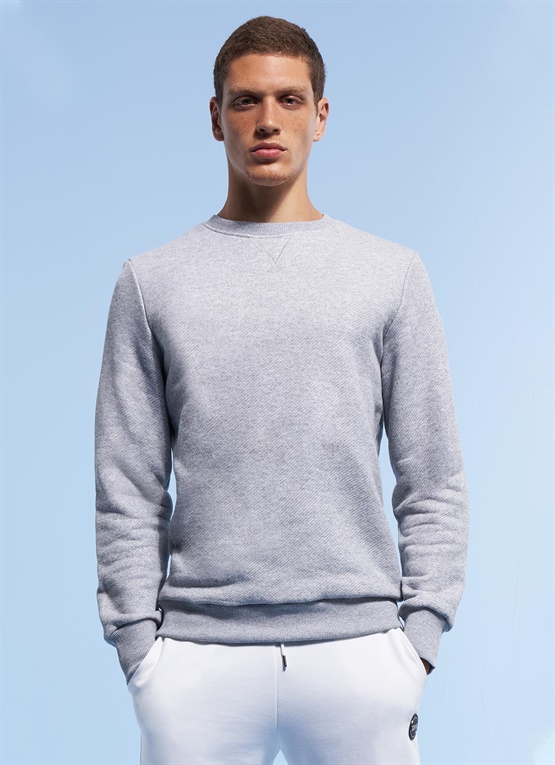 Research cotton sweatshirt with crew neck