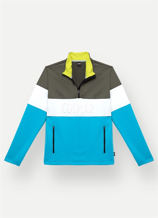 Colourblock thermal ski sweater