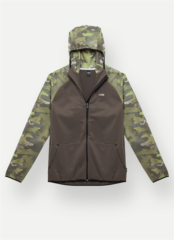 Camouflage thermal ski sweater