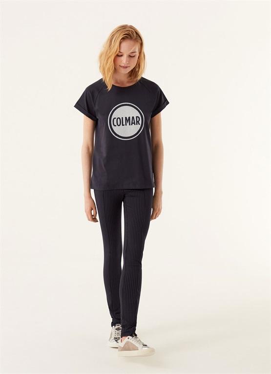 t-shirt con maxi logo effetto rete